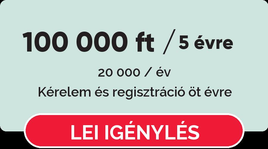 Regisztrálja a LEI kódot 5 évre